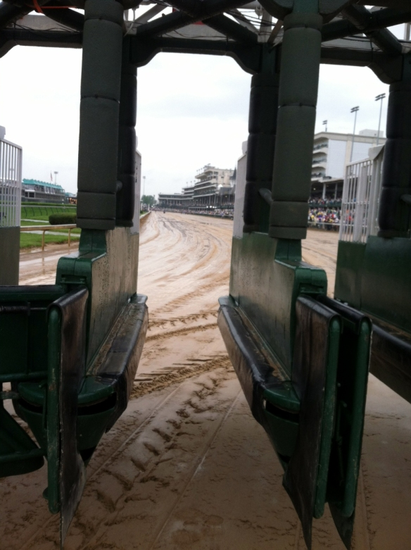 Through these gates will pass a champion. (The starting gate)