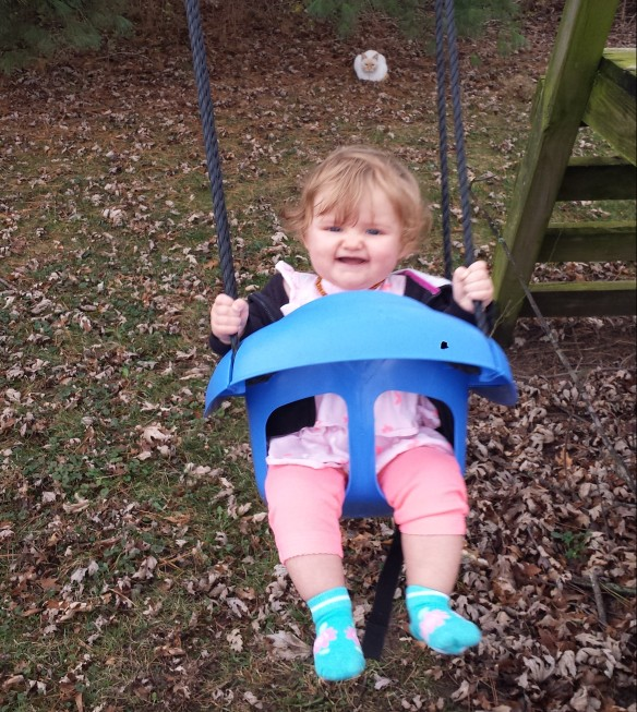 A couple rare warm December days meant doing one of your favorite activities--swinging!